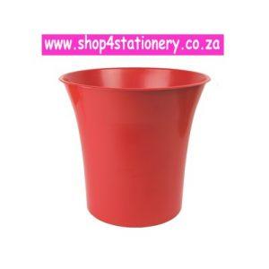 Red Waste Paper Bin