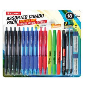 Luxor Assorted Combo Pack (18-Piece)