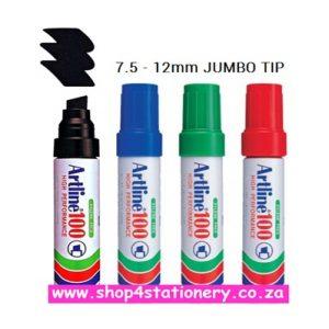 Permanent Markers Artline Ek100 Jumbo 4'S